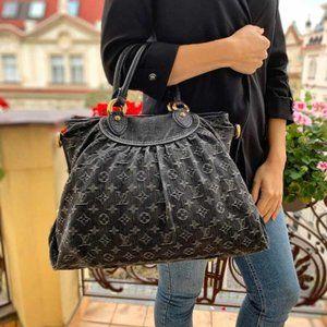 Louis Vuitton DENIM Hand Bag  Neo Cabby MM BlacK